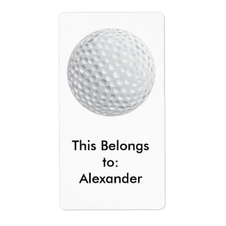 Étiquette graphique de vecteur de boule de golf