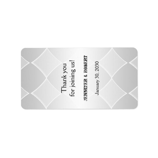 Étiquette gris perlé de baume à lèvres de noces de