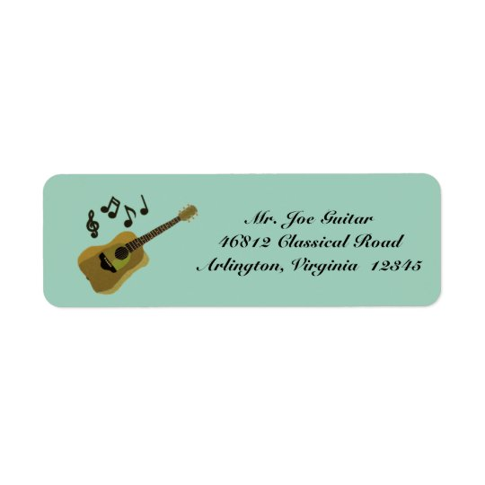 Étiquette Guitare classique
