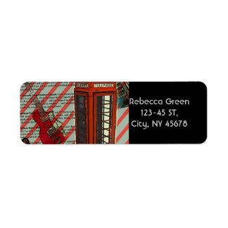 Étiquette Guitare électrique de téléphone de bande de petit