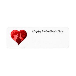 Étiquette Heureuse Sainte-Valentin