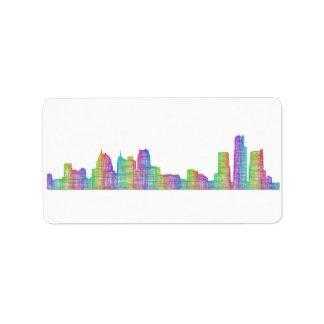 Étiquette Horizon de ville de Detroit