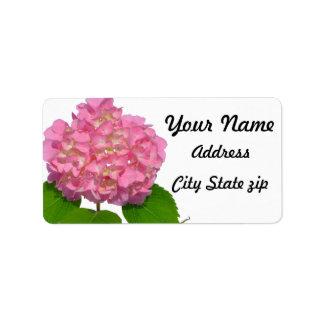 Étiquette Hortensia rose