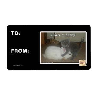 Étiquette I a un lapin