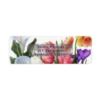 Étiquette Invitation nuptiale florale de douche d'oeuf de