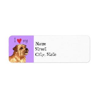 Étiquette J'aime la ma Norfolk Terrier