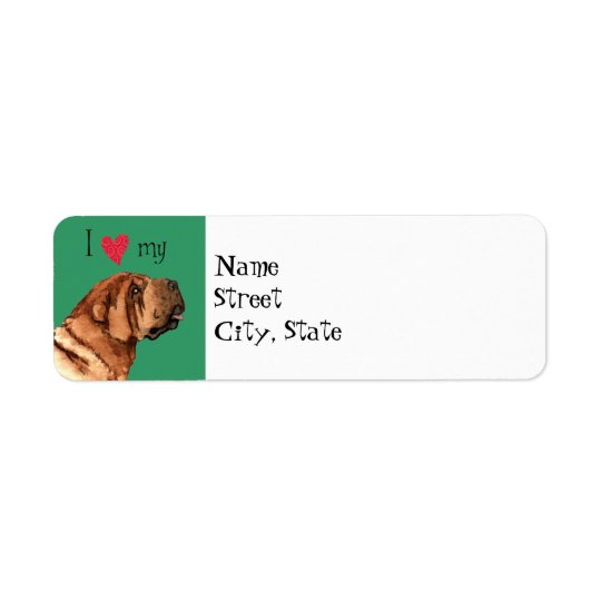 Étiquette J'aime mon Shar-Pei chinois