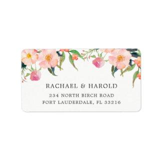 Étiquette Jardin botanique d'aquarelle élégante floral