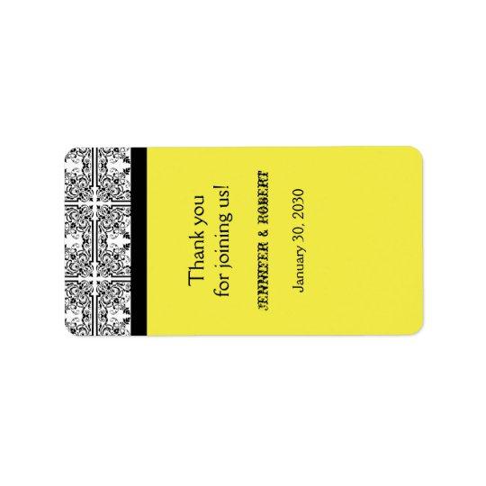 Étiquette jaune citron de baume à lèvres de