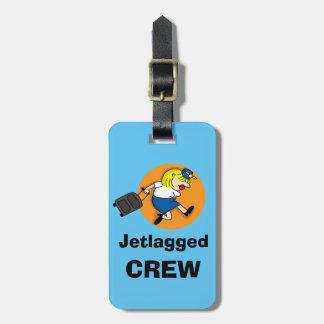 Étiquette Jetlagged de bagage d'équipage Étiquettes Bagages