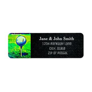 Étiquette jouant au golf d'invitation d'adresse de