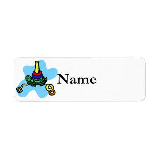 Étiquette Jouet de pile de tortue