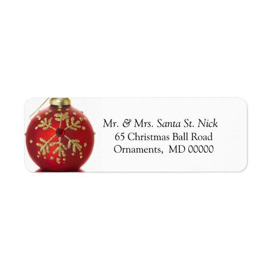 Étiquette Joyeux Noël customisé de vacances de Noël