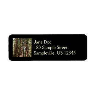 Étiquette Jusqu'aux séquoias II au monument national en bois