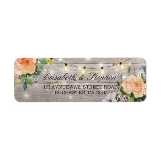 Étiquette La ficelle florale en bois rustique allume