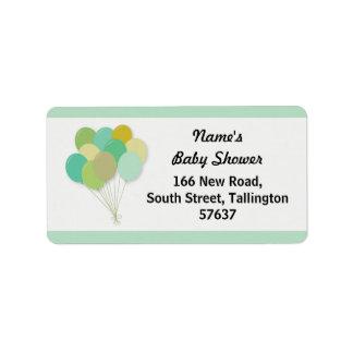 Étiquette Le genre de baby shower de BALLONS d'étiquettes de