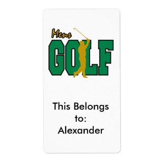 Étiquette le golf des hommes
