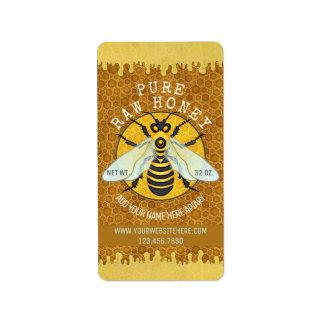 Étiquette Le pot de miel de rucher d'abeille marque