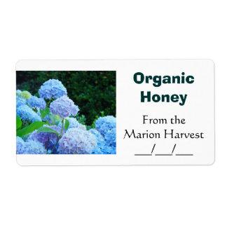 Étiquette Le pot organique de miel marque des cadeaux