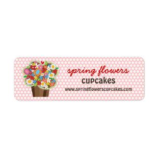 Étiquette Le ressort doux lunatique de petit gâteau fleurit
