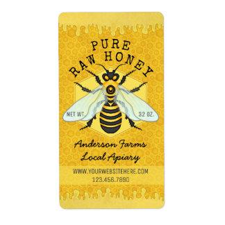 Étiquette Le rucher de pot de miel d'abeille marque