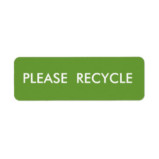 Étiquette Le vert réutilisent l'expédition d'avertissement