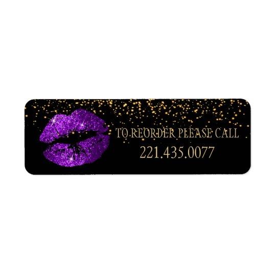 Étiquette Les confettis d'or et les lèvres pourpres 2 -
