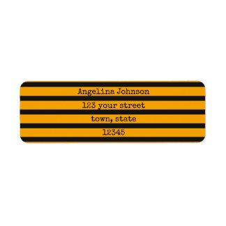 Étiquette Les rayures fraîches contrastent vibrant jaune