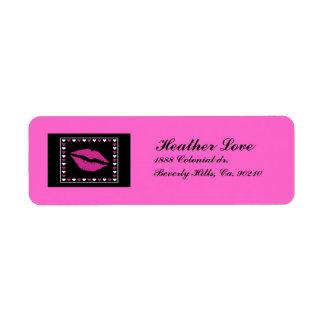 Étiquette Lèvres et coeurs chauds réglés