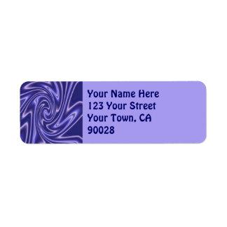 Étiquette lignes bleues et vagues