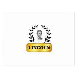 étiquette Lincoln d'or Carte Postale