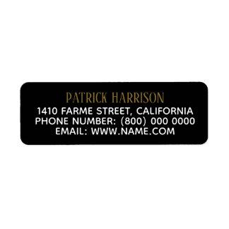 Étiquette l'information de contact d'adresse de retour sur