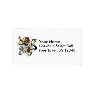 Étiquette Lion de tartan de MacGregor