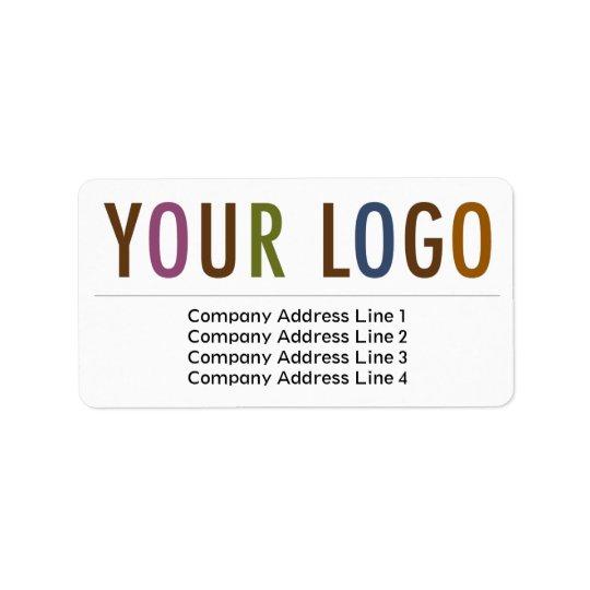 Étiquette Logo de retour de coutume d'étiquettes de adresse