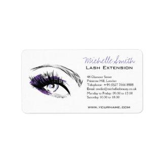 Étiquette Longue icône d'extension de mèche de cils d'oeil