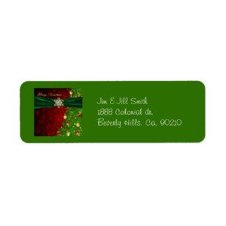 Étiquette Lumières et flocons de neige d'arbre de Noël de