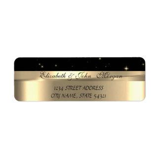 Étiquette Luxe chic élégant, or de Faux, noir