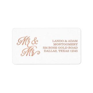 Étiquette M. et M. Faux Copper