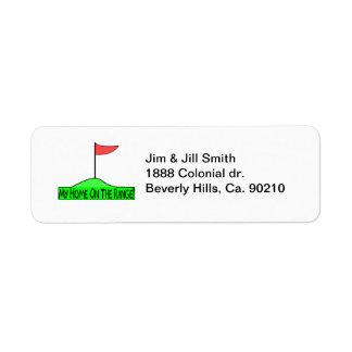 Étiquette Ma maison sur le golf de gamme
