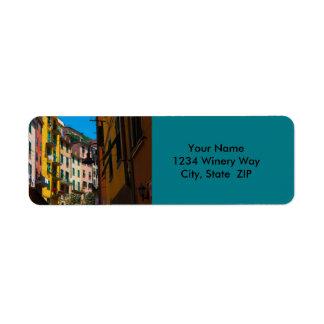 Étiquette Maisons colorées dans Cinque Terre Italie