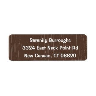 Étiquette Mariage campagnard en bois rustique de Brown,