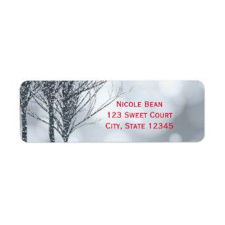 Étiquette Mariage d'hiver de vacances d'arbres de parties