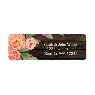 Étiquette Mariage en bois de pays de grange rustique de