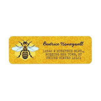 Étiquette Miel de bourdon d'abeille et de nid d'abeilles
