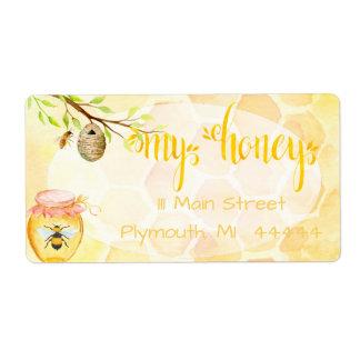 Étiquette Miel de rucher d'abeille embarquant Labe