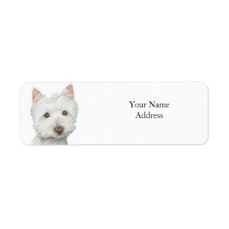 Étiquette mignon d'Avery de chien de Westie