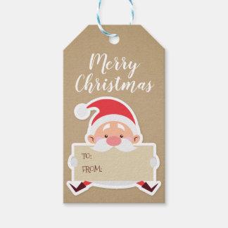 Étiquette mignonne de cadeau de Noël de Père Noël
