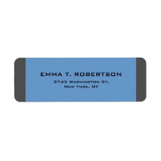Étiquette Minimaliste à la mode moderne élégant de gris bleu