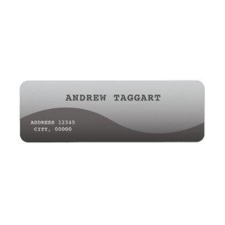 Étiquette Minimaliste avec la conception grise simple