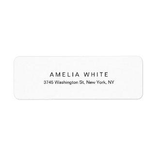 Étiquette Minimaliste blanc noir moderne élégant simple